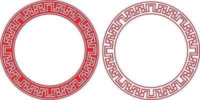 chinesischer Rahmen, orientalischer Grenzkreis der asiatischen Verzierung, Vektorzeichnung vektor