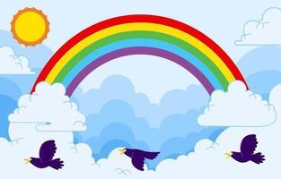 glücklicher Regenbogenhintergrund vektor