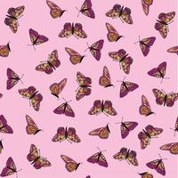 Schmetterling nahtloses Muster vektor