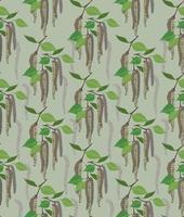 nahtloses Muster des abstrakten Birkenblattes der Blumen vektor