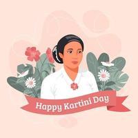 Happy Kartini Day Design vektor