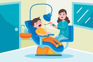 Zahnarztberuf im flachen Designstil. vektor