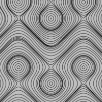 optische Kunst, gestreifter Vektorhintergrund. Grafik der abstrakten glatten schwarzen Wellenkurvenbewegungslinien. Fließsubstanz. vektor