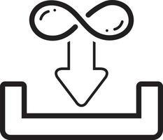 linje ikon för obegränsad