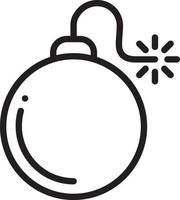 linje ikon för bomb vektor
