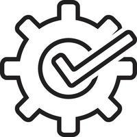 linje ikon för anpassningsbar vektor