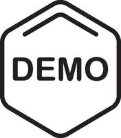 linje-ikon för demo vektor