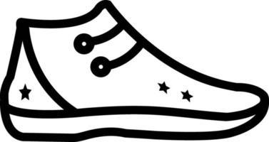 Liniensymbol für Schuh vektor
