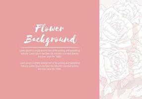 Hintergrund der Blumenhand gezeichneten Rose, Skizzenschablonenvektorlayout vektor