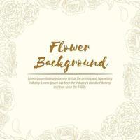 Hintergrund der Hand gezeichneten Blumenrosenskizze, Blumenschablonenvektorlayout vektor