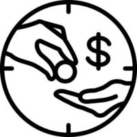 linje ikon för lön vektor