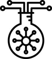 linje ikon för biologi