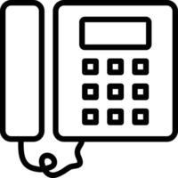 linje ikon för telefon