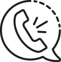 linje ikon för röst