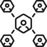 linje ikon för affiliate