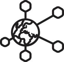 linje ikon för global