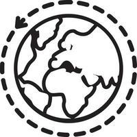 linje ikon för internationell