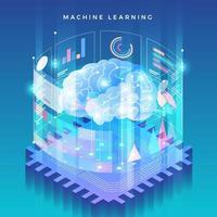 Technologie des maschinellen Lernens vektor