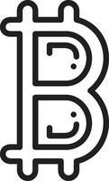 Zeilensymbol für Bitcoin