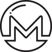 Liniensymbol für Monero