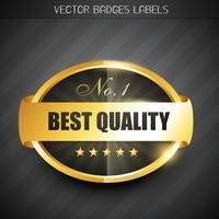 bestes Qualitätslabel vektor