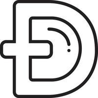 Liniensymbol für Dogecoin