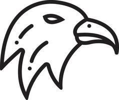 linje ikon för örn vektor