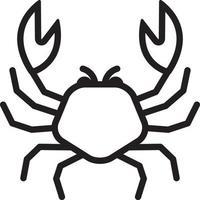 linje ikon för krabba