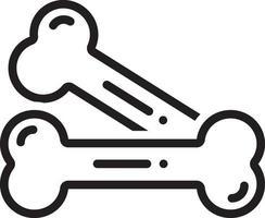 linje ikon för ben