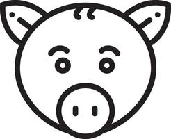 linje ikon för gris