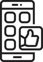 linje ikon för sociala