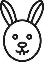 linje ikon för kanin
