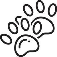 Liniensymbol für Footprint vektor
