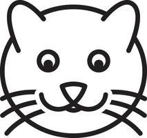 linje ikon för katt