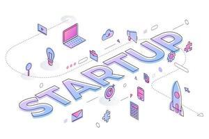 Business Word Startup vektor