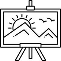 Liniensymbol zum Malen