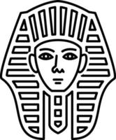 linje ikon för egyptiska
