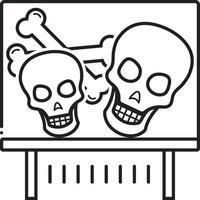 Liniensymbol für Knochen