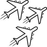 linje ikon för jet, utställning