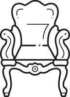 linje ikon för forntida