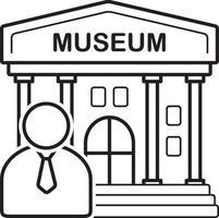linje ikon för museum