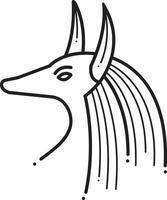 Liniensymbol für Ägypter vektor