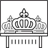 linje ikon för krona