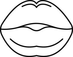 linje ikon för kyssar