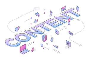 Inhalt von Geschäftswörtern vektor