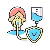 kritische Krankheit Versicherung RGB Farbikone
