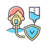 kritisk sjukdomsförsäkring rgb färgikon