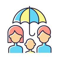 livförsäkring rgb färgikon