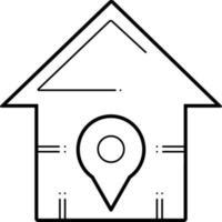 linje ikon för hem