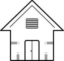 linje ikon för hus